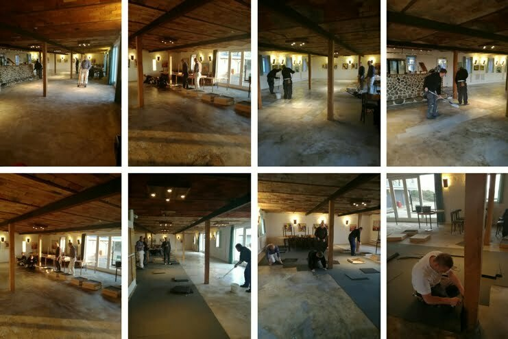 Nyt gulv i Restaurant Birkemose Golf Club