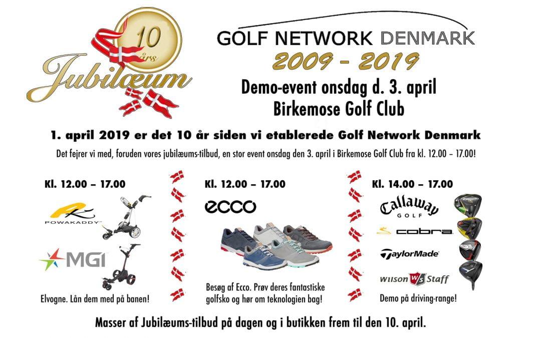 Golf Network Denmark fejrer 10 års jubilæum i perioden fra 1. – 10. april